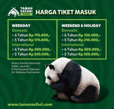 Harga Tiket Masuk Taman Safari Cisarua Bogor Indonesia