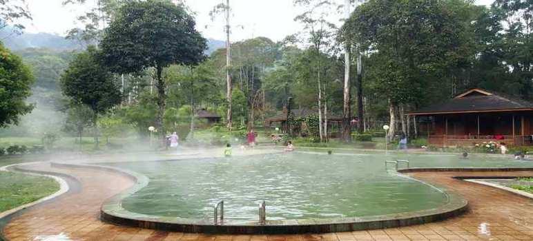 Pemandian Air Panas Cimanggu di Ciwidey Kabupaten Bandung