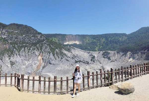 Gambar Gunung Tangkuban Perahu Lembang Bandung di Instagram