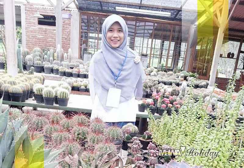 Kunjungan wisata bunga rizal