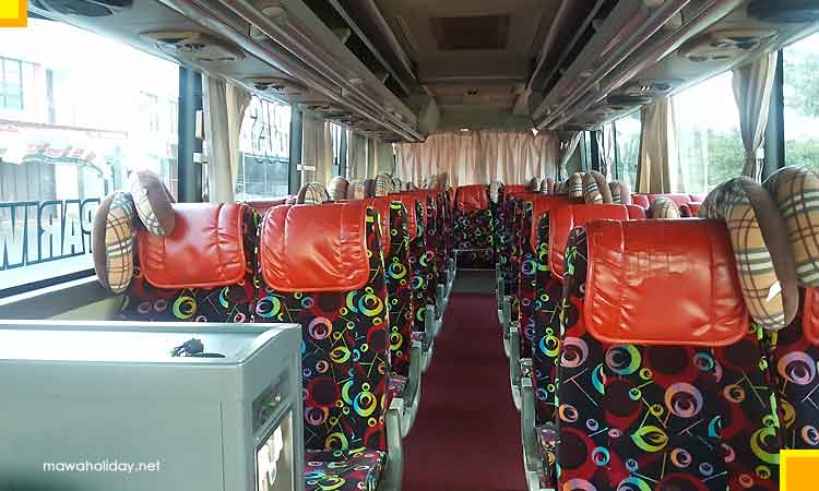 Interior bus pariwisata medium 31 seat