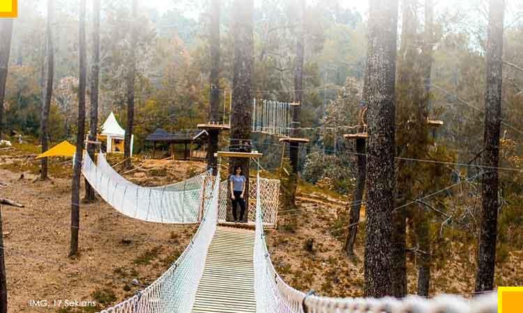 Kunjungan wisata orchit forest lembang